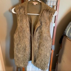 Xhilaration Jackets & Coats - Oversized fur vest
